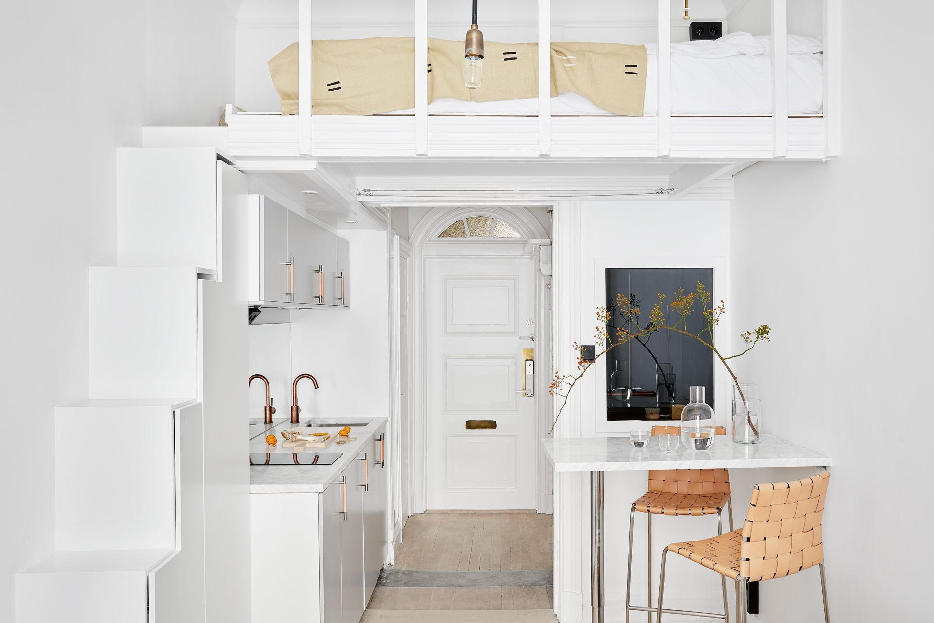 Mini Apartamentos on Loft Kitchen Design Ideas